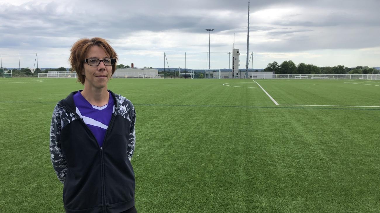 Mylène Guitard, entraîneure et joueuse à La Souterraine mais aussi coprésidente de la section féminine du département